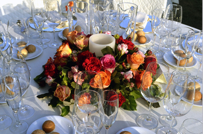 Centrepieces and floral decorations