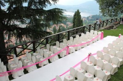 Allestimenti esterni per cerimonia