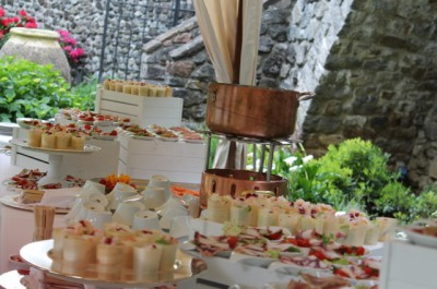 Open air corporate buffet event