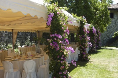 Flower design for marquees and tent structures