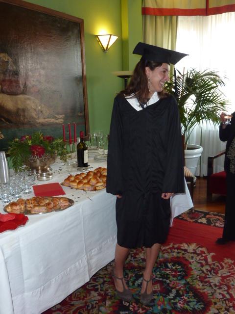 Празднование защиты диплома